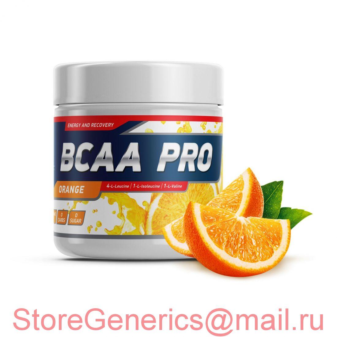 Geneticlab BCAA PRO 250gr/20serv Orange