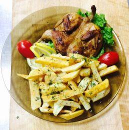 Цыпленок в печи