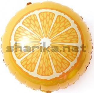 Воздушный шар (18''/46 см) Круг, Апельсин, Оранжевый, 1 шт.