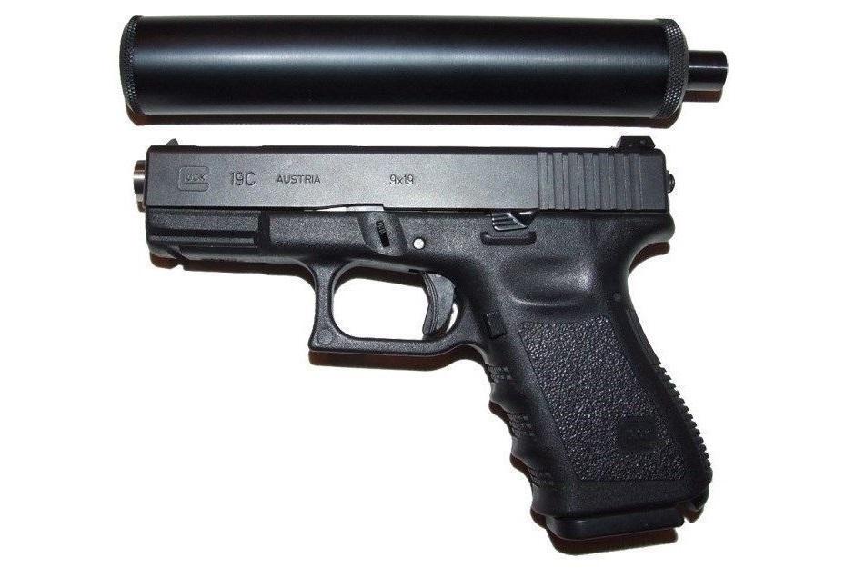 Пистолет Glock 19 с ПБС