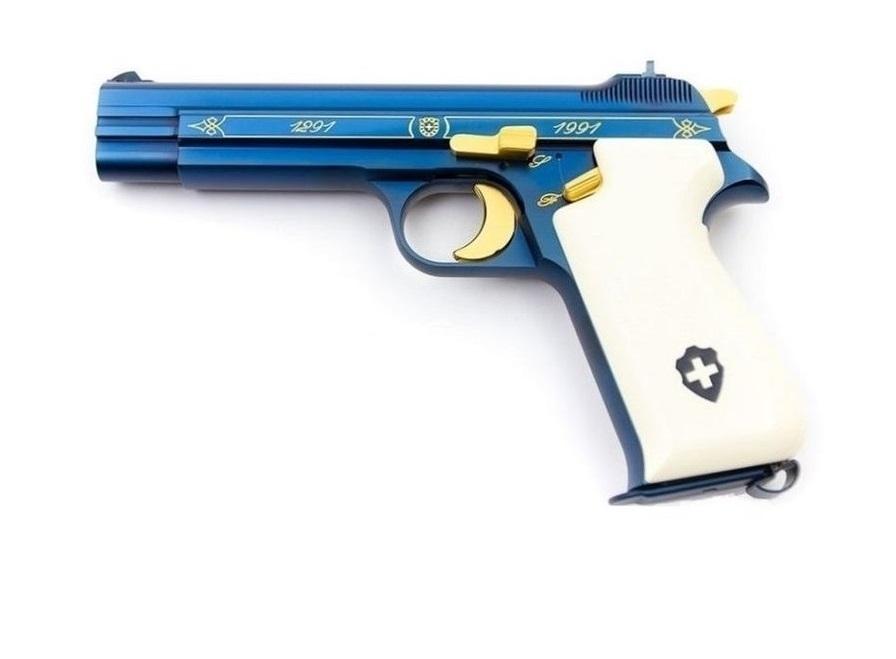Пистолет SIG P210 Blue