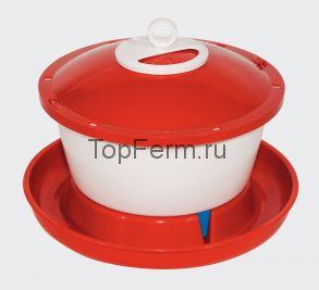 Поилка с крышкой RAPID CLEAN 6 л для кур