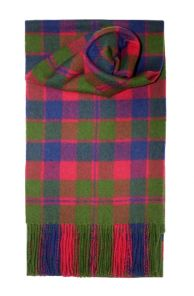 шотландский шарф 100% шерсть ягнёнка , тартан крупнейшего шотландского города Глазго, GLASGOW TARTAN LAMBSWOOL SCARF плотность 6