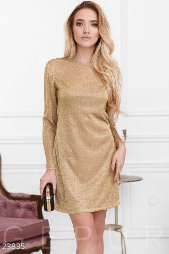 Прямое коктейльное платье 23835