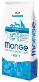 Monge DOG Speciality Light корм д/собак всех пород низкокалорийный лосось с рисом