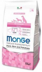 Monge Dog Speciality корм д/взрослых собак всех пород свинина с рисом и картофелем