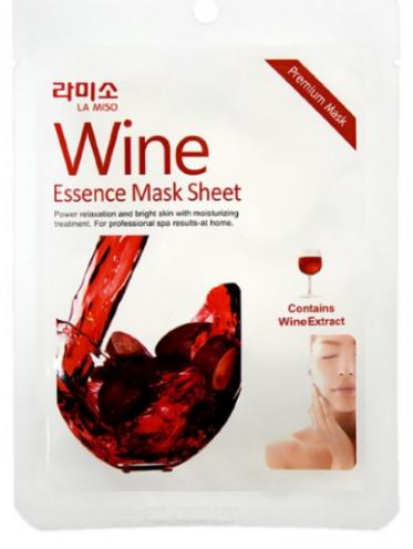 Тканевая маска для лица La Miso Mask Premium, с экстрактом красного вина
