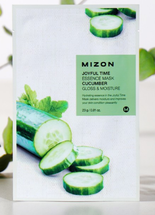MIZON Тканевая маска для лица с экстрактом огурца Joyful Time Essence Mask Cucumber