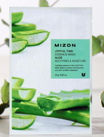 MIZON Тканевая маска для лица с экстрактом сока алоэ Joyful Time Essence Mask Aloe