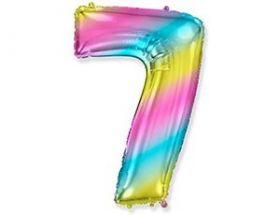 """Фигура """"7""""  (40""""/102 см)  Радуга металлик"""