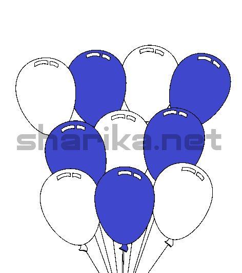 Сочетания с синий, 18 шариков