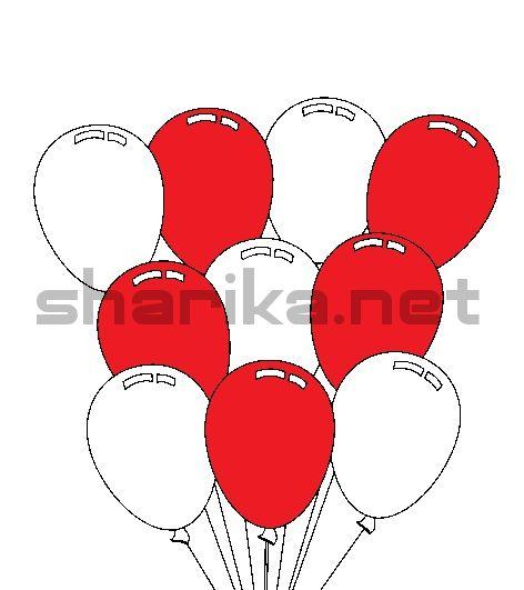 Сочетания с красным, 18 шариков