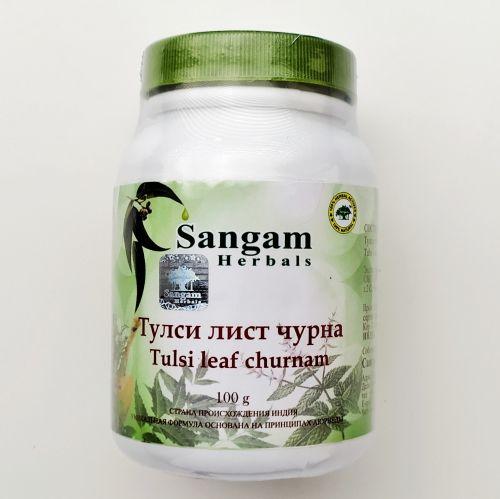 Тулси (туласи) чурна   Tulsi leaf churna   100 г   Sangam Herbals
