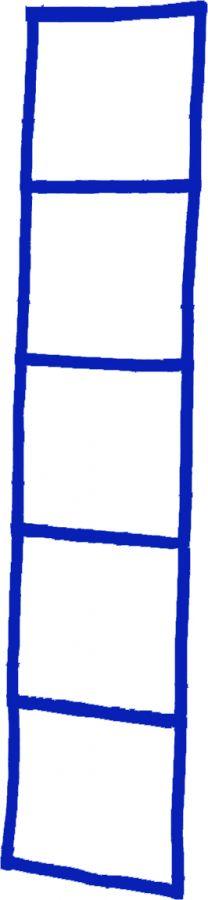 Координационная лесенка синяя