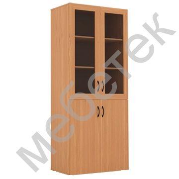 Шкаф для документов широкий со стеклом