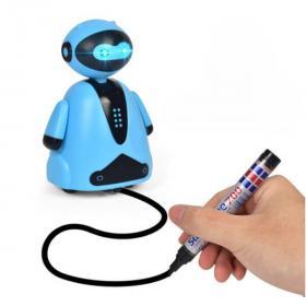 Индуктивная игрушка Робот с Led сенсором (Цвет: Голубой)