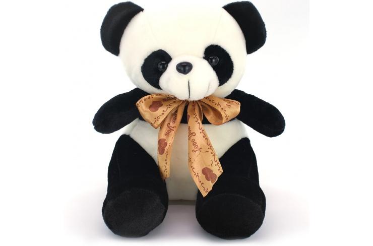 Панда с золотой лентой 30 см