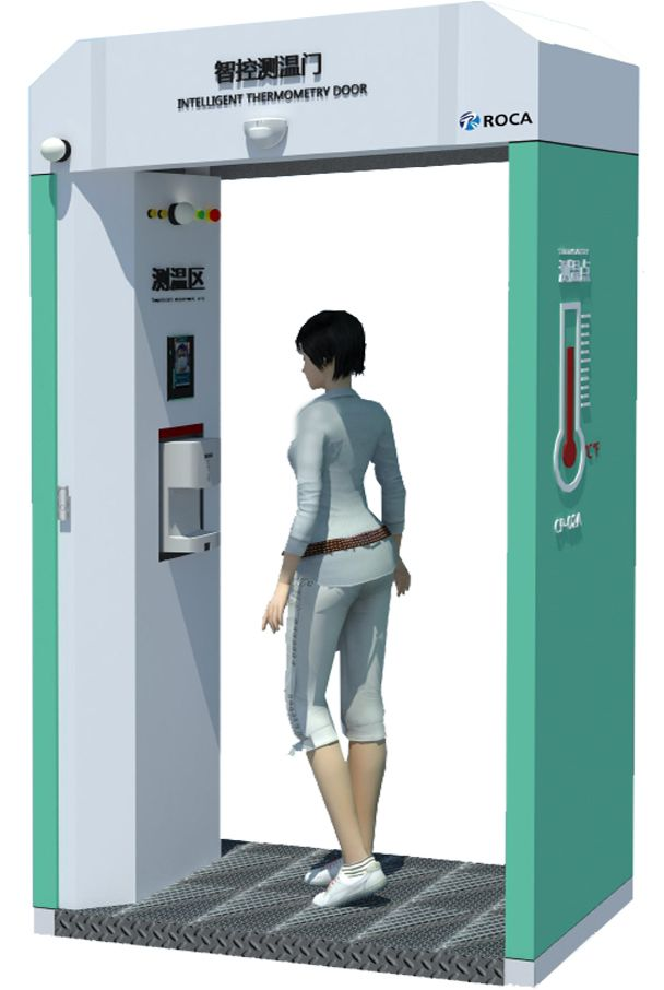 Кабинка для измерения температуры и дезинфекции ROCA-01C