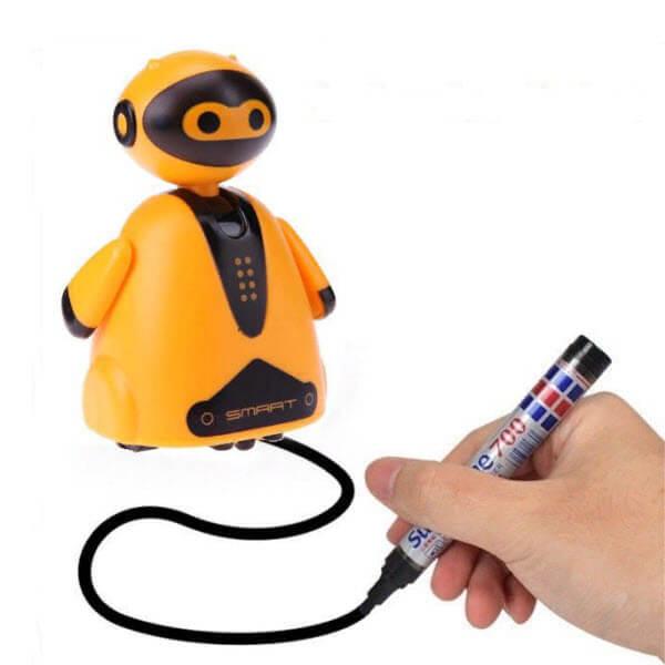 Индуктивная игрушка Робот с Led сенсором (Цвет: Оранжевый)
