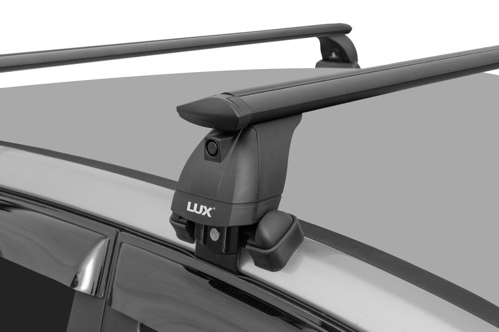Багажник на крышу Kia Soul (c 2019г, без рейлингов), Lux, черные крыловидные дуги