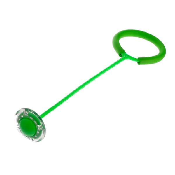 Нейроскакалка на одну ногу со светящимся Led роликом (Цвет: Зелёный)