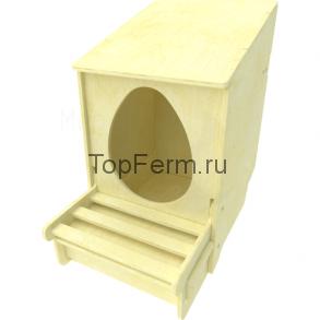 Гнездо из фанеры со съемной крышкой для кур-несушек