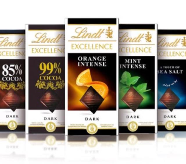 Шоколад Lindt набор из 3 шт