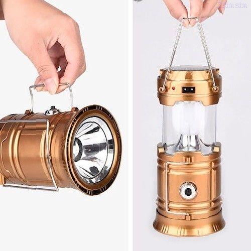 Складной кемпинговый фонарь с диско-шаром 4 в 1, 19 см