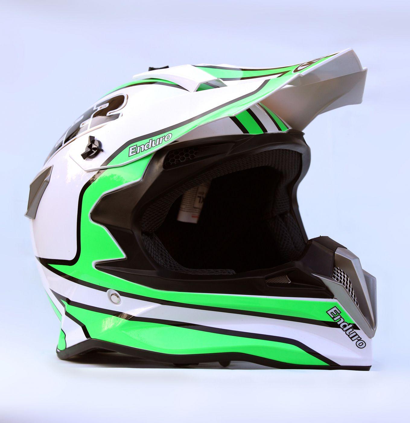 Шлем кроссовый Endurо White Green