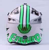 Шлем кроссовый Endurо White Green фото 3
