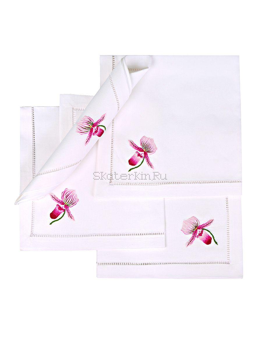 Салфетка с вышивкой Орхидея