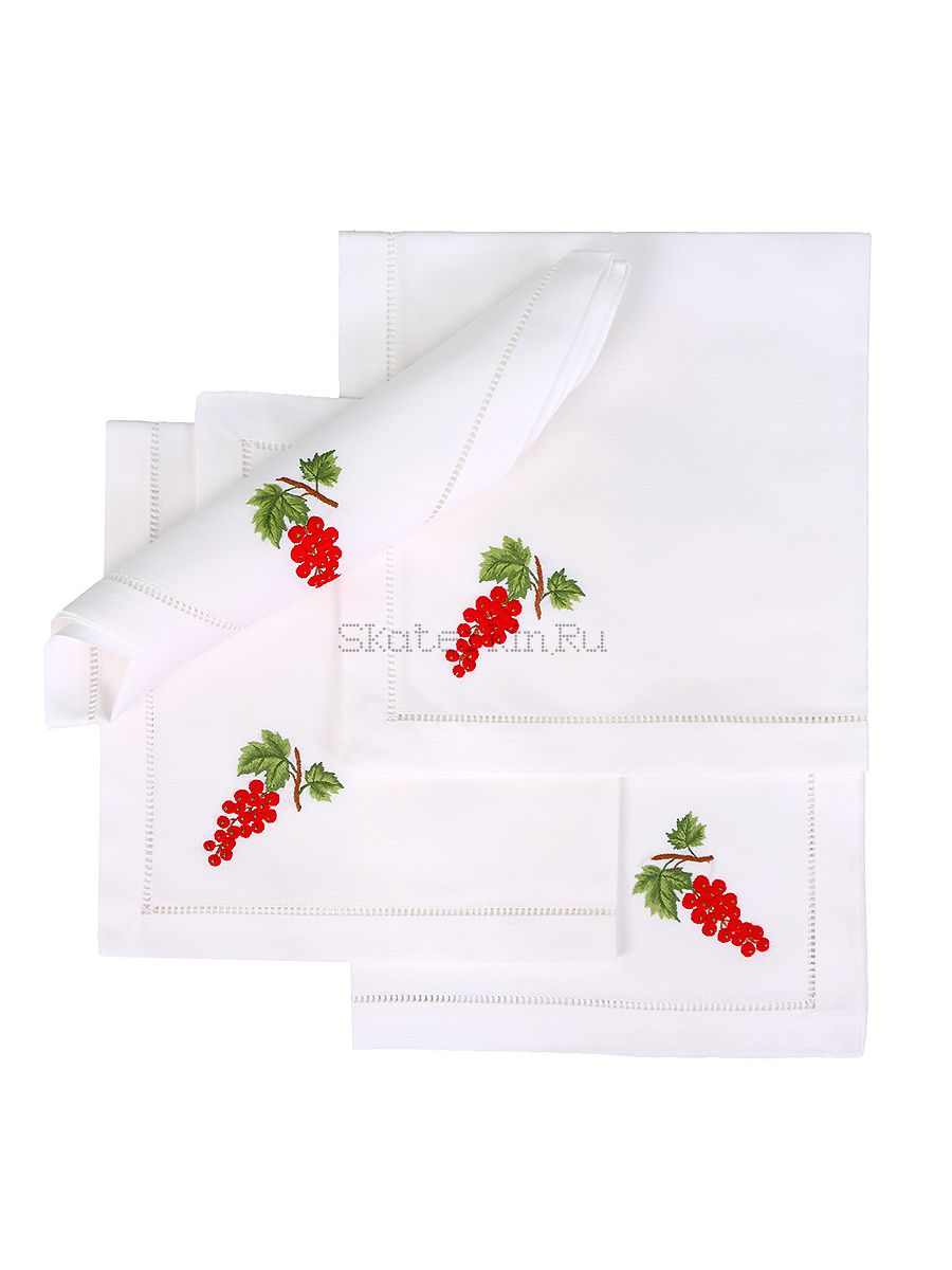 Салфетка с вышивкой Смородина красная