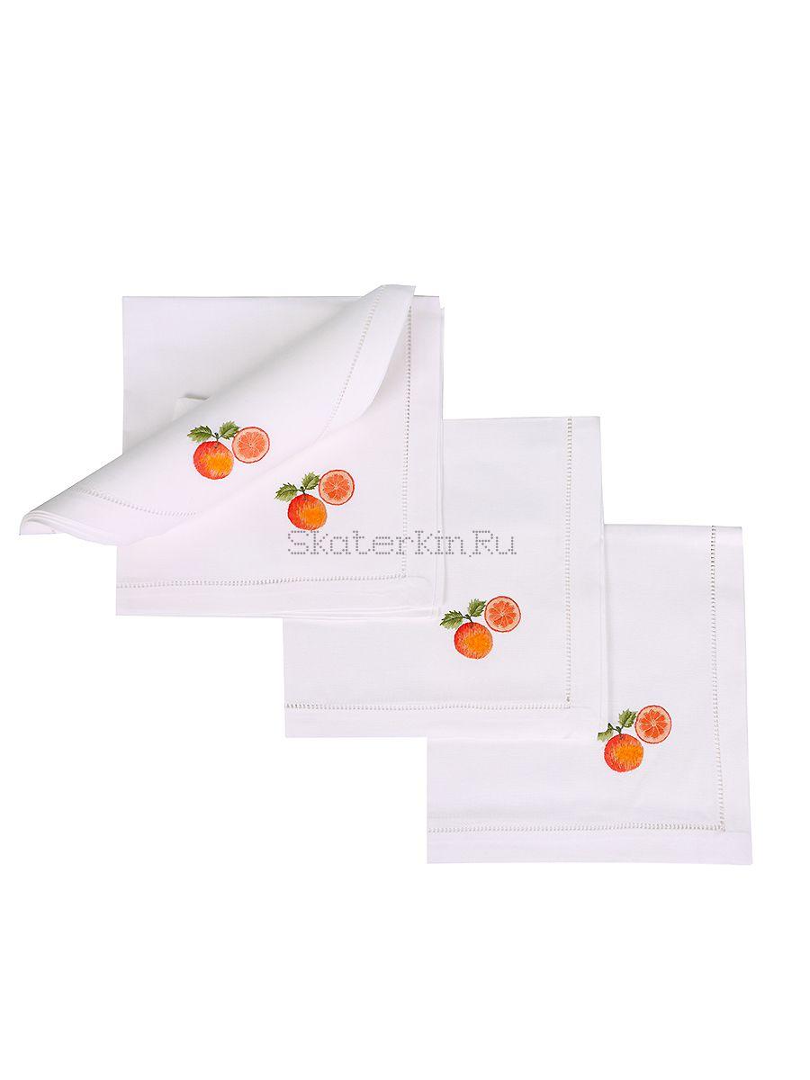 Салфетка с вышивкой Апельсин