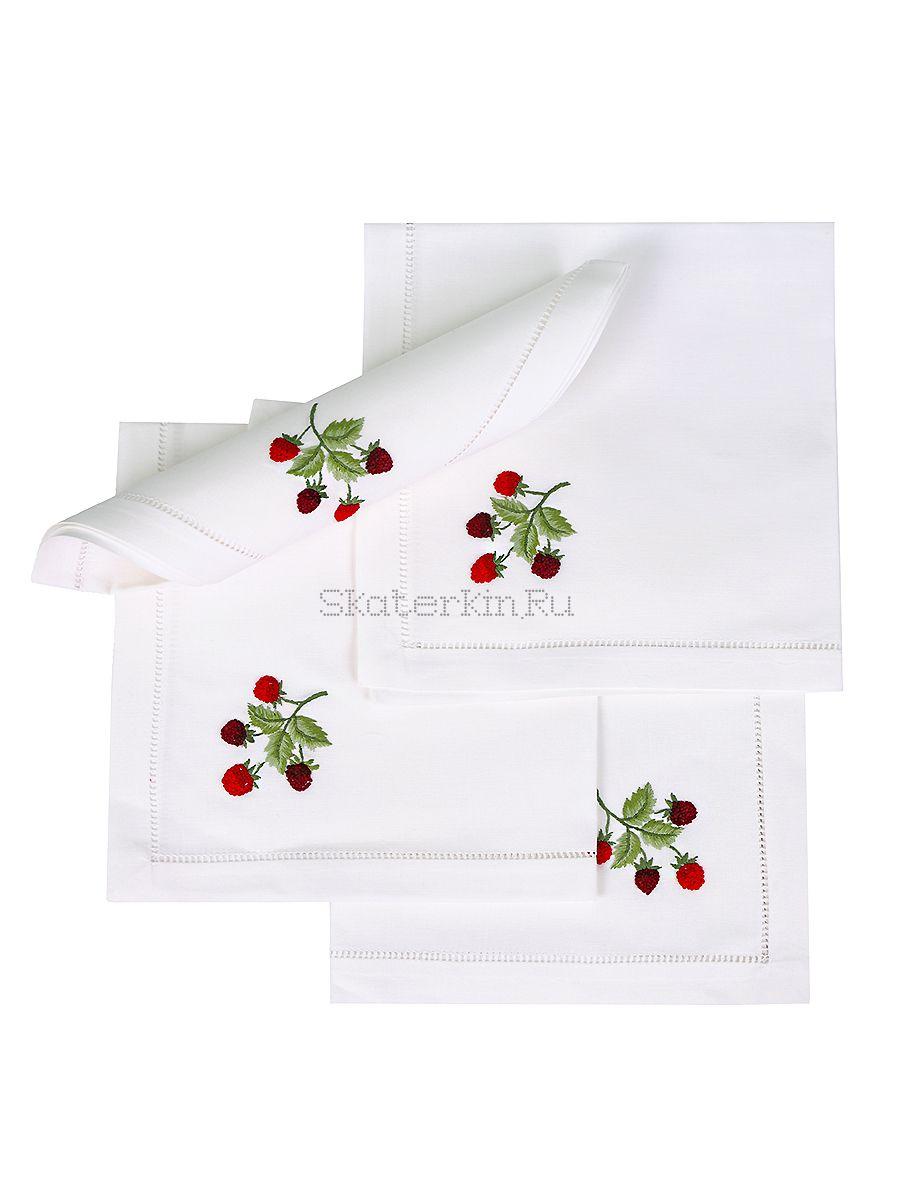 Салфетка с вышивкой Малина