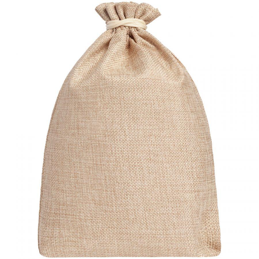 Подарочный мешок холщовый с Вашим логотипом
