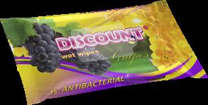 ТМ «Discount» 15 с ароматом винограда антибактериальная