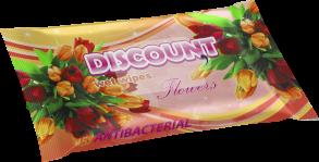 ТМ «Discount» 15 аромат цветов антибактериальная