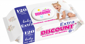 ТМ «Discount» Extra с крышкой 120 РОМАШКА