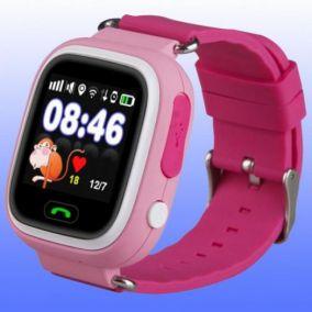 Умные детские часы с GPS Smart Baby Watch Q80 розовые