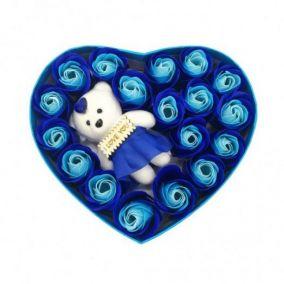 Подарочный набор Мыльные розы Love с мишкой, 18 шт,  Лучшая цена!!!