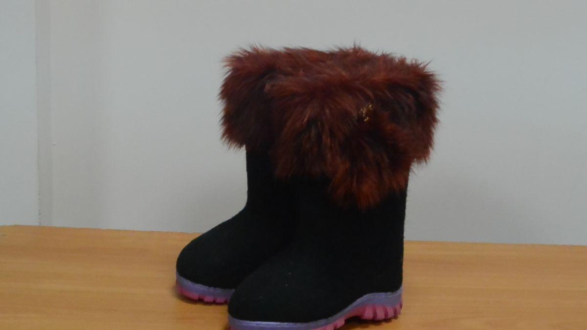 """Обувь валяная """"Кукморские"""" с отделкой из искусственного меха на резиновой подошве"""