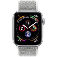 Apple Watch Series 4 GPS, Корпус: Алюминий, Ремешок: Спортивный браслет цвета «белая ракушка»