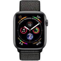 Apple Watch Series 4 GPS, Корпус: Алюминий, Ремешок: Спортивный браслет чёрного цвета