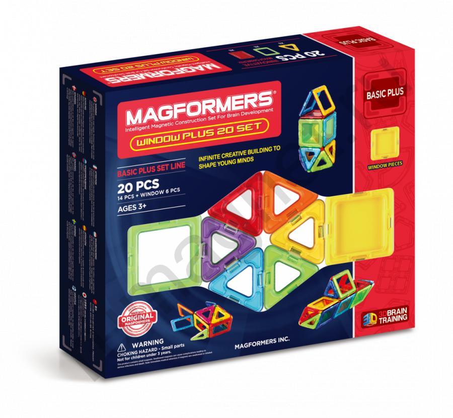 Магнитный конструктор MAGFORMERS 715001 Window Plus Set 20 set