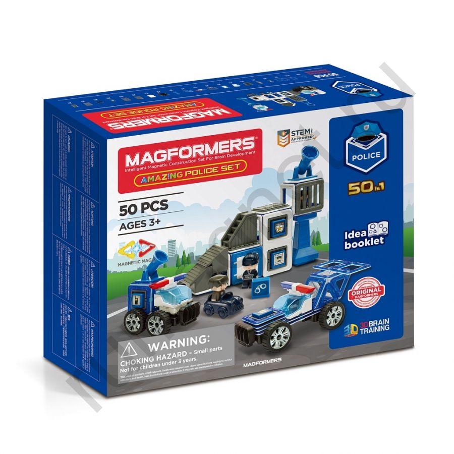 Магнитный конструктор MAGFORMERS 717002 Amazing Police Set