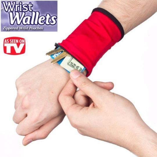 Кошелёк-браслет на запястье Wrist Wallets, 3 шт