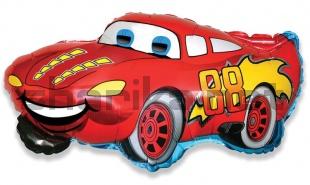 Фольгированный шар (32'/81см) Фигура, Гоночная машина, красная 1 шт.