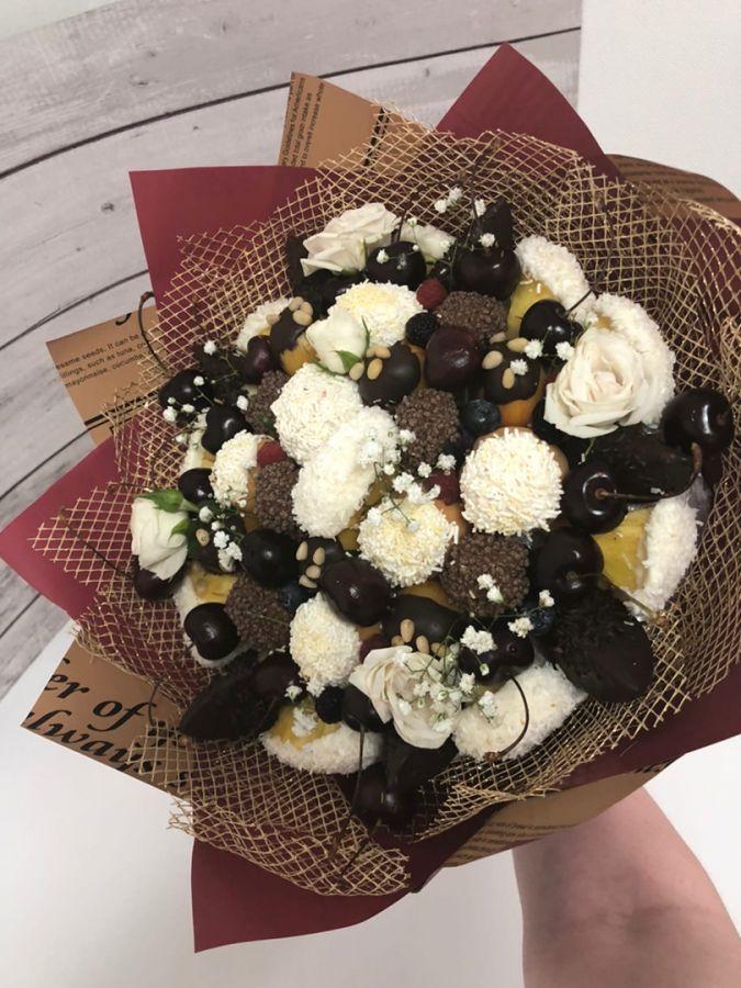 Букет из фруктов в шоколаде №5