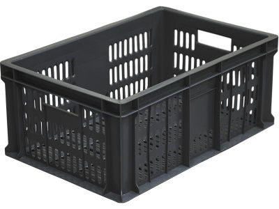 Ящик пластиковый 600х400х250 с перфорацией