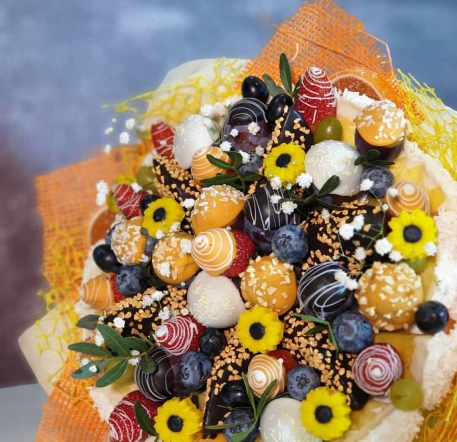 Букет из фруктов в шоколаде Солнышко №6